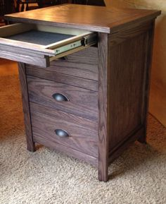 Free DIY Woodworking Plans for Building a Nightstand: Free Instructables Nighstand Plan With a Locking Secret Drawer