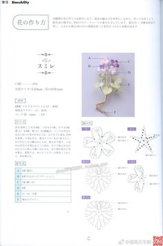 Crochet diagrams for tiny flowers. Crochet Diagram, Crochet Chart, Crochet Motif, Irish Crochet, Crochet Flower Tutorial, Crochet Flower Patterns, Flower Applique, Crochet Necklace Pattern, Crochet Bouquet