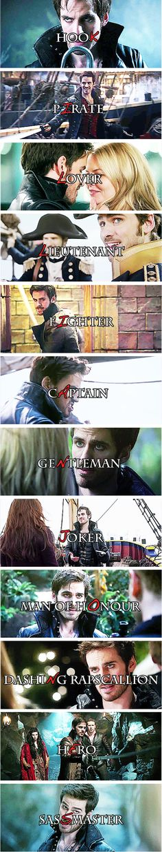 -Who are you? - Killian Jones, but most people have taken to call me by my more colorful moniker… Hook.