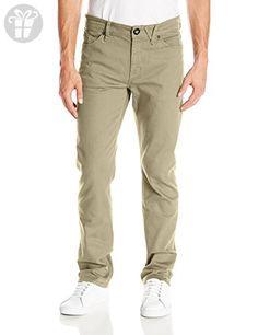 Volcom Men's Solver Twill Pant, Beige, 28 (*Amazon Partner-Link)