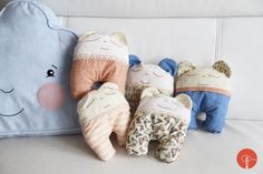 A few weeks ago I sewed these cute fabric toys for babies I was going to visit… handmade