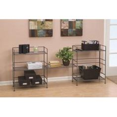 @Overstock - The three-tier rectangular folding shelf from Seville is the right solution for personal storage. Featuring a satin pewter finish, it is made in a contemporary style that fits well with most decors, and it folds flat for easy storage when not used.http://www.overstock.com/Home-Garden/Seville-3-tier-Rectangular-Folding-Shelf/6857301/product.html?CID=214117 CAD              54.19