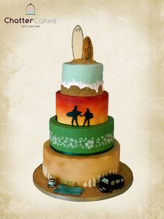 Surfing Wedding Cake