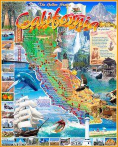 CALIFORNIA STATE - 1000 Piece Jigsaw Puzzle