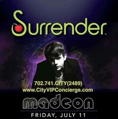 Madeon Friday July 11th at SURRENDER Las Vegas Nightclubs. 702.741.2489 City VIP Concierge for Table and Bottle Service, Tickets, VIP Services and the BEST of Any & Everything Fabulous in Las Vegas!!! #SurrenderLasVegas #VegasNightclubs #LasVegasBottleService #CityVIPConcierge *CALL OR CLICK TO BOOK* http://www.cityvipconcierge.com/las-vegas-nightlife.html