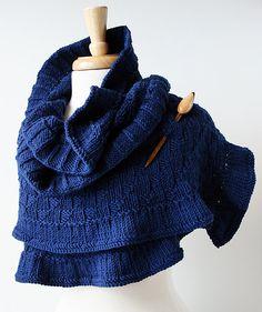 Rococó mano punto chal - Merino lujo lana abrigo - moda femenina otoño invierno bufanda - azul marino