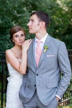 gray suits with pink tie for wedding - Google Search