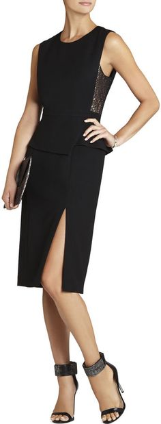Megaen Sleeveless Side Lace-Insert Dress