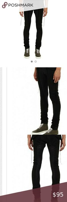NWT PRIVATE STOCK BLACK HIPSTER PANTS Save hundreds on these new with tags(NWT) Private Stock black The Deathstroke Pant!!! Size 30. In excellent condition!!!  -Style #PS08AD-B02 -Fitted waist with beltloops -Slimfit -Extra long multi-block pants -Five-pocket design -Main: 100% Cotton -Shell accent 1: 95% Cotton, 5% elastane -Trim: Antique gunmetal shank, zipper & rivets -Imported Private Stock Pants Hipster Pants, Black Hipster, Deathstroke, Shank, Black Jeans, Man Shop, Zipper, Pocket, Antique