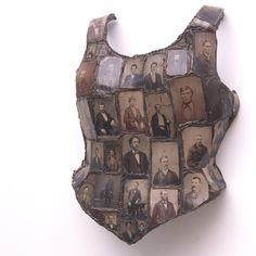 Captive Covering, 2005 - Nancy Youdelman Collages, Collage Art, Textiles, Found Object Art, A Level Art, Gcse Art, Assemblage Art, Art Plastique, Costume Design