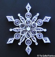 Quilled White Snowflake  Christmas Ornament by TheQuilledRainbow