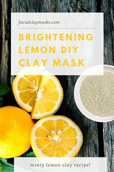 Rule #1, never apply lemon direct to your face.  Rule #2 mix it with clay for a brightening face mask.  This homemade lemon face mask recipe combines peppermint essential oil with a carrier oil, lemon and clay that deep cleanses and refreshes your skin for a healthy and balanced complexion.   #lemon #face #mask #clay #diy #homemade #forface #acne #freeman #facial #brightening #brighten Lemon Face Mask, Lemon On Face, Clay Face Mask, Clay Masks, Face Masks, Natural Beauty Tips, Natural Skin Care, Diy Beauty, Beauty Hacks