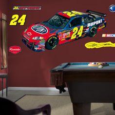 Jeff Gordan Car NASCAR Wall Decal - Kids Decorating Ideas
