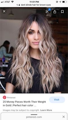 Brunette To Blonde Before And After, Going Blonde From Brunette, Dark Blonde Hair, Brunette Hair, Blonde Makeup, Hair Color Balayage, Blonde Balayage, Hair Colour, Ombre Hair