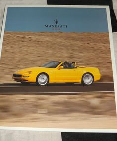 2003 MASERATI SPYDER V8 SALES BROCHURE PROSPEKT ENGLISH RARE OVERSIZED MINT