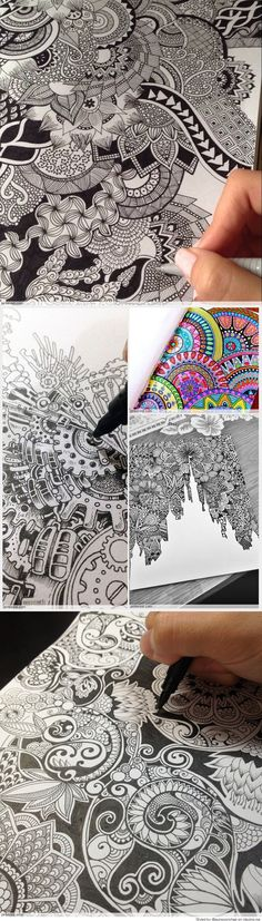 Major lazor lex wilson has translated his zentangle for Brandon boyd mural