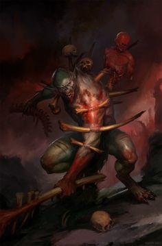 For Age of Sigmar Battletome: Flesh-Eater Courts. All rights reserved Fantasy Kunst, Fantasy Rpg, Fantasy Artwork, Dark Fantasy, Warhammer Fantasy, Warhammer 40k Art, Weird Creatures, Fantasy Creatures, Warhammer Vampire Counts