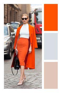 Secretos para combinar prendas de colores #TiZKKAmoda #naranja #color #laranja #oranje #vacaciones #primavera #verano Colour Combinations Fashion, Color Combinations For Clothes, Color Blocking Outfits, Fashion Colours, Colorful Fashion, Colourful Outfits, Cool Outfits, Summer Outfits, Fashion Outfits