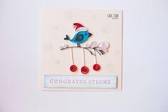 quilling, card, winter, bird, Cris Tan