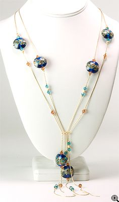Jewelry Making Idea: Impressionist Waterfall Necklace (eebeads.com)