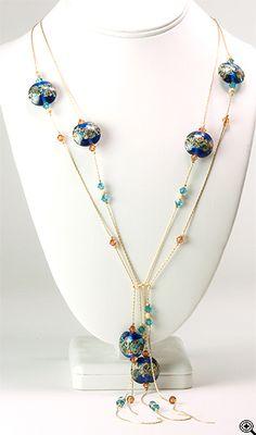 Jewelry Making Idea: Impressionist Waterfall Necklace (eebeads.com)