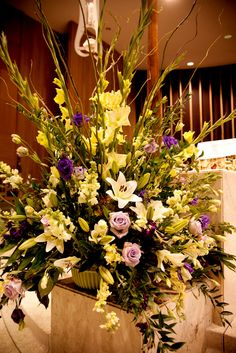Purple, lavender, and green altar piece  www.significanteventsoftexas.com