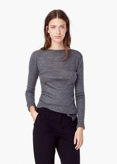 Pull-over en laine côtelée -  Femme | MANGO