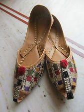 08 India Punjabi Women Ladies Mojari Jutti Khussa Shoes Wedding US UK Size 7 8 9