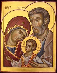 Holy Family by Anastasija Šopagienė Religious Images, Religious Icons, Religious Art, Religion, Christian Artwork, Russian Icons, Byzantine Icons, Holy Mary, Catholic Art
