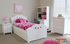 For Miss C - Hearts Trundle Bed, $799.00 (http://www.beds4kids.com.au/hearts-trundle-bed/)