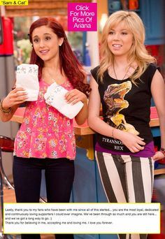 Photo of Sam and Cat for fans of Sam & Cat 36129742 Yours Truly, Cat Valentine Outfits, Sam E Cat, Ariana Grande Cat, Jenette Mccurdy, Icarly And Victorious, Miranda Cosgrove, Samar, Celebrity Dads