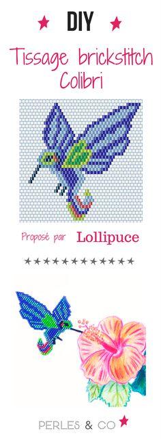 Collen L. alias @Lollipuce nous propose dans ce tutoriel une nouvelle grille de tissage en brick stitch : le joli colibri ! Son plumage coloré nous émerveille et nous inspire... un vrai régal pour les yeux.