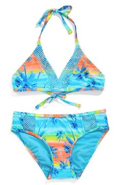Gossip+Girl+'Starry+Palms'+Two-Piece+Swimsuit+(Big+Girls)+available+at+#Nordstrom