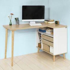 Large Retro Computer Desk Storage Cabinet Corner PC Workstation Writing Table UK for sale online Pc Desk, Table Desk, Small Study Table, Study Desk, Retro Table, Small Home Offices, Corner Table, Desk Storage, Storage Ideas