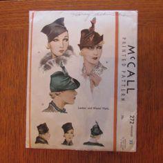McCall 272 | 1930s Hats