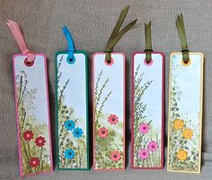 Stampin' Up ideas and supplies from Vicky at Crafting Clare's Paper Moments: Book marks using Touch of Nature, Autumn Days, Pocket Silhouettes Stampin' Up ideas and supplies from Vicky at… Creative Bookmarks, Diy Bookmarks, Bookmark Ideas, Homemade Bookmarks, Card Tags, Gift Tags, Watercolor Bookmarks, Book Markers, Craft Show Ideas
