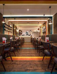 Gourmet Burger Kitchen (Notting Hill, London, UK) / moreno:masey - Restaurant & Bar Design Awards