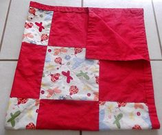Ladybug Butterfly Baby Quilted Blanket by HollyHomemadeGoodies, $40.00