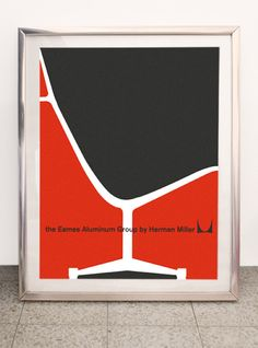 Mid Century Herman Miller Aluminum Group poster /// by BoldModern Woodworking In An Apartment, Groups Poster, Meeting New Friends, Beautiful Posters, Classic Image, Typography Prints, Herman Miller, Mid-century Modern, Danish Modern
