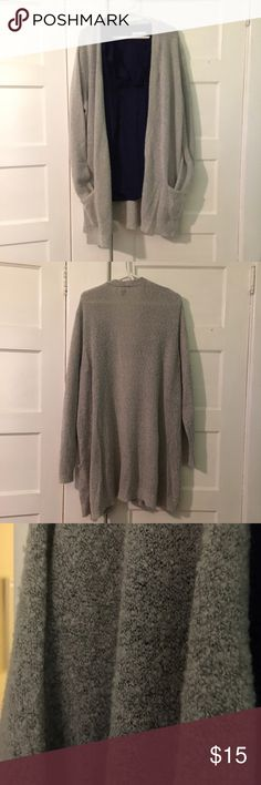 Old Navy Long Gray Cardigan Excellent used condition. 100% cotton. Home is smoke free and cat friendly. Old Navy Sweaters Cardigans