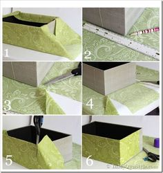 How to cover a box with fabric tutorial #Recipes