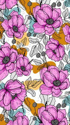 Hello Wallpaper, Pretty Phone Wallpaper, Plant Wallpaper, Aesthetic Desktop Wallpaper, Iphone Background Wallpaper, Cellphone Wallpaper, Pretty Wallpapers, Floral Pattern Wallpaper, Flowery Wallpaper