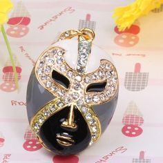 16GB Rhinestone Inlay Beijing Opera Facial Mask Shaped USB Flash Drive (Black) | Consumer Electronics | Linkdelight.com