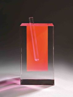 Shiro Kuramata's acrylic flower vase series