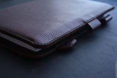 Купить блокнот из натуральной кожи - бордовый, купить блокнот, кожаный блокнот, блокнот ручной работы