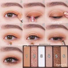 korean makeup – Hair and beauty tips, tricks and tutorials Korean Makeup Look, Korean Makeup Tips, Asian Eye Makeup, Korean Makeup Tutorials, Eye Makeup Steps, Natural Eye Makeup, Natural Beauty, Eyeshadow Tutorials, Asian Beauty