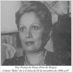 """Nize Freitas de Souza. Coluna """"Baby' do A Crítica de 03 de novembro de 1980."""