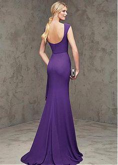 f4af5831fbf Elegant Chiffon Bateau Neckline Sheath Evening Dresses with Beadings  Beautiful Evening Gowns