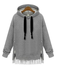 Hooded Sweatshirt w/ Ruffles