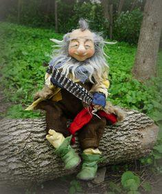needle / wet felted Gnome https://www.facebook.com/FairyfeltBySiso